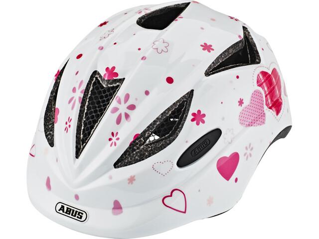 ABUS Anuky Cykelhjälm Barn pink vit - till fenomenalt pris på Bikester 6ea6b902bdee2